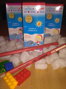 eskimo 3 kids, bottles of eskimo 3 kids, pencils, lego