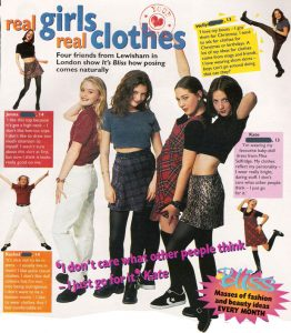 90s girl clothes, crop tops, flares
